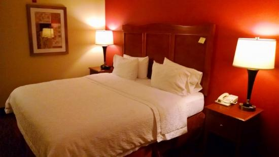 Hampton Inn Chicago-Carol Stream : bed
