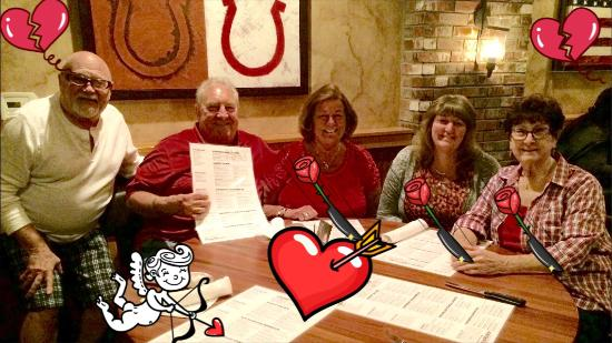 Wood Ranch BBQ & Grill: Valentine dinner for friends and lovers.