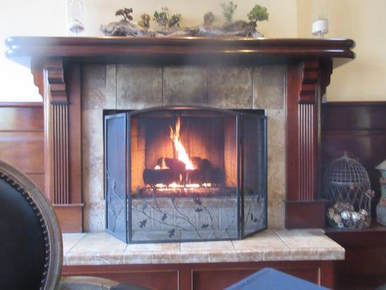 fireplace by our table gardens of avila avila beach ca picture rh tripadvisor com