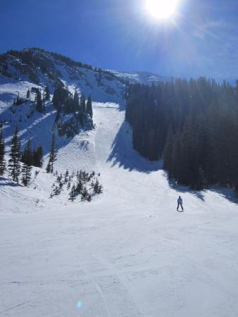 View of the groomed part of Hunziger Bowl