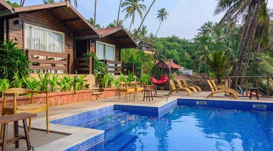 Antares beach resort goa vagator hotel reviews photos rate comparison tripadvisor for Resorts in goa with private swimming pool