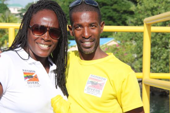 Rainbow Divers Inc. St. Lucia: Rainbow Divers. Brother and Sister team.