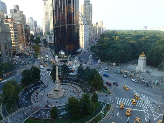 Robert View From The Restaurant Of Columbus Circle And Central Park