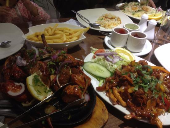 Mixed grill platter and chinese box of crispy chicken for An najeeb cuisine leicester