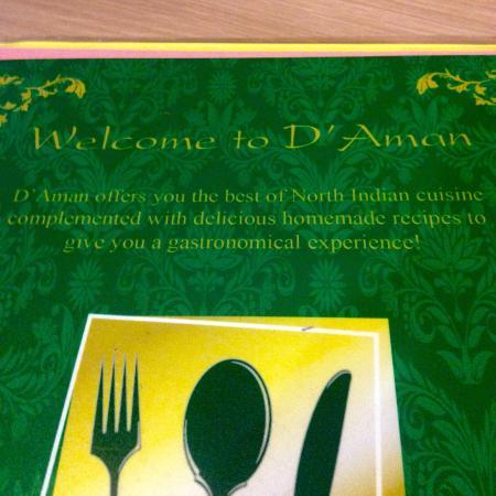D 39 aman northern indian cuisine kuala lumpur restaurant for Amans indian cuisine menu