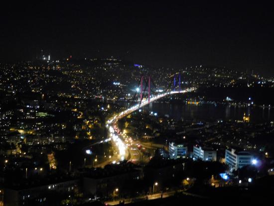 The Plaza Hotel Istanbul: Vom Roof-Restaurant (Balkon) tolle Sicht.