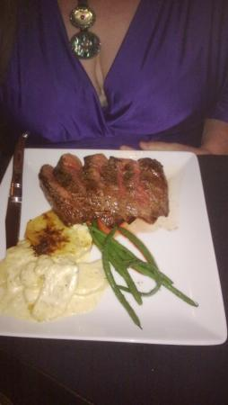 Mackinaws Restaurant: Flat Iron Steak.