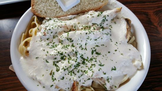 Newcastle, WY: Chicken Alfredo with Homemade bread