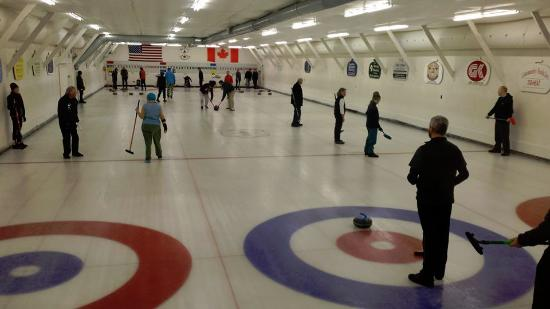 A Busy Saturday at the Belfast Curling Club
