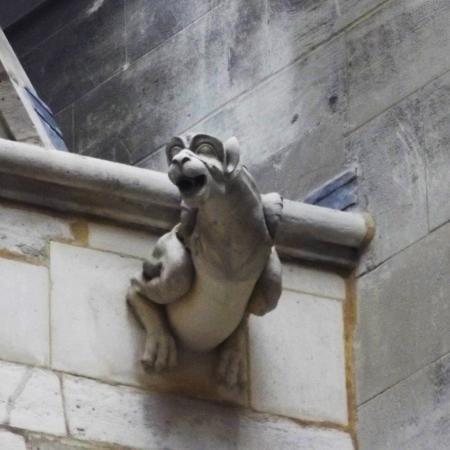 Paris, Frankrike: One of the many gargoyles of Sainte Chapelle