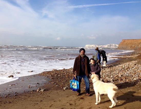 Dinosaur Expeditions CIC: Happy family plus our dog (welcome on the beach on a lead), our 18 year old now wishes she'd com