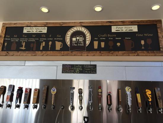 The Mill: 20 taps, 19 NC brews