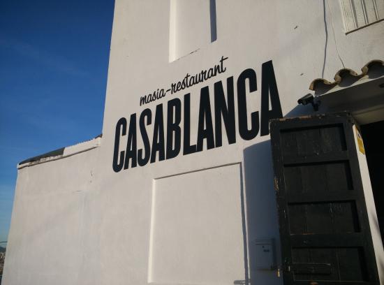 Masia Casablanca: entrada del restaurante