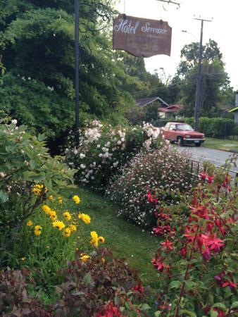 Hotel Serenade De Fr. Schubert: Jardín espectacular! Lleno de flores