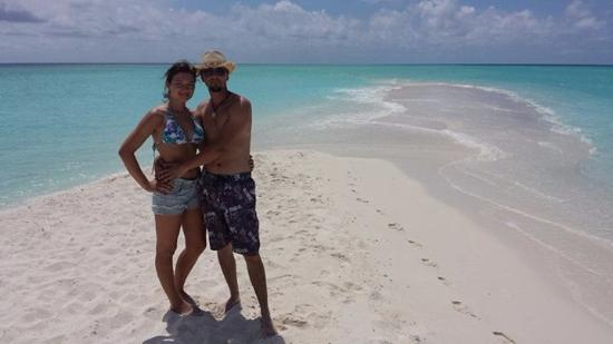 Kuramathi: Sandbank am Ende der Insel
