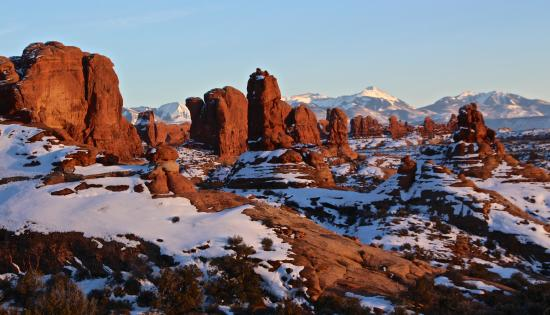 Winter Sunset Views From The Garden Of Eden Picture Of Arches National Park Moab Tripadvisor