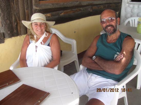 Balneario Samoa: Almorzando en el deck