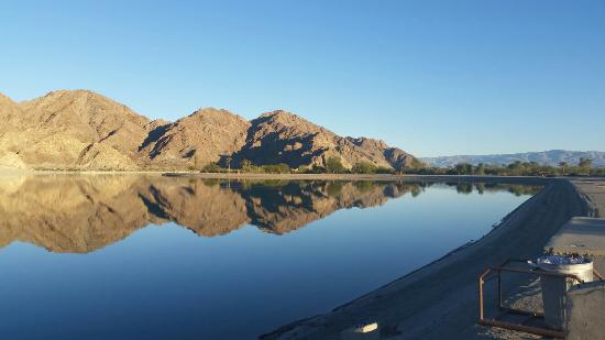 Lake Cahuilla Recreation Area: Early morning view from the campground.