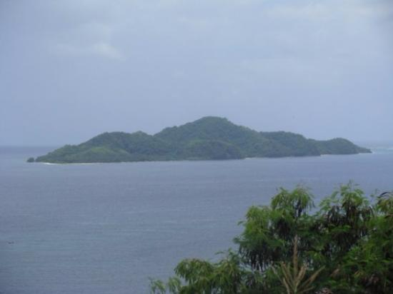 Mati, Philippines: A full view of Pujada Island from Mount Hamaguiton