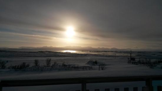 Budardalur, Islandia: view from wooden platform