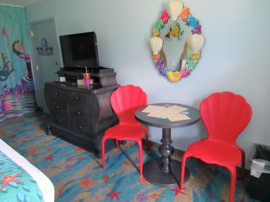 The Little Mermaid Room Table, Chairs, TV & Dresser with ...