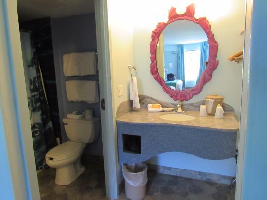 Disneys Art Of Animation Resort The Little Mermaid Vanity Bathroom Area There Is