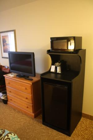 Country Inn & Suites By Carlson, Davenport: Microwave & Refrigerator in room
