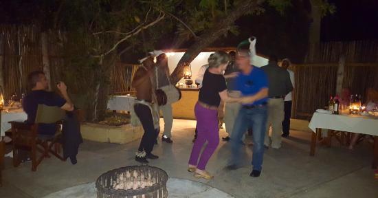 Jock Safari Lodge: My birthday celebration with drums and native dancing.