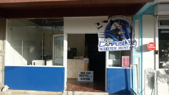 Portsmouth, Dominica: Storefront Next to Hope Restaurant and across the street from Ross University Student Center