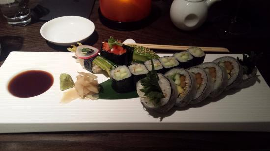 Vegetarian sushi plate. Simple, beautiful and delicious! - Picture ...