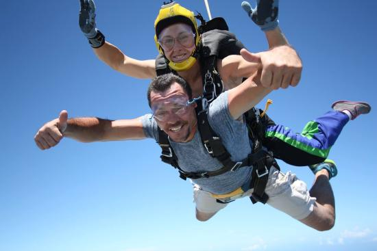 Skydive South Texas on Mustang Island: Happy jumper