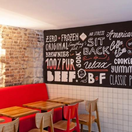 Photo of Burger and Fries in Paris, , FR