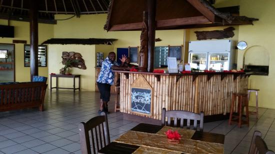 Aore Island, Vanuatu : Inside dining area