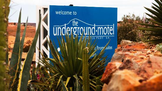 The Underground Motel: front sign