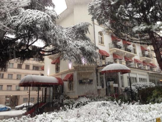 Carlton Lausanne Boutique Hotel : sous la neige