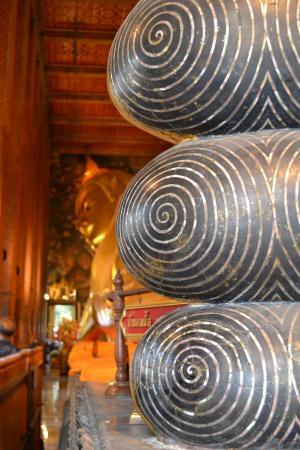 Wat Pho (Tempel des liegenden Buddha): particolare dei piedi