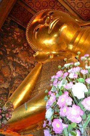 Wat Pho (Tempel des liegenden Buddha): volto del Buddha