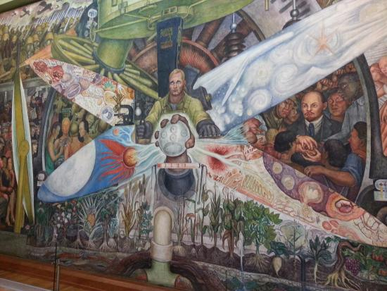 Lenin inspired mural picture of palacio de bellas artes for Diego rivera lenin mural