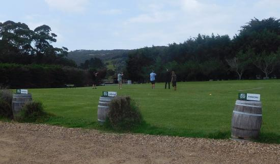 Waiheke Island, New Zealand: Skeet shooting