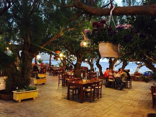 Damnoni Taverna: at night..