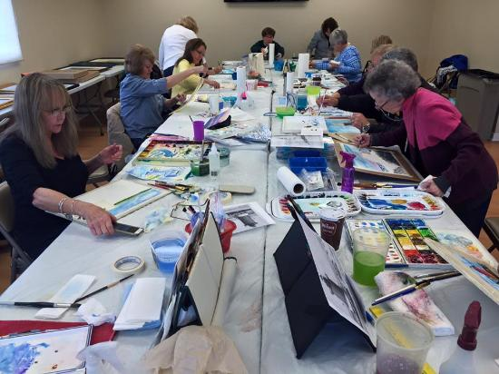 """Art League of Ocean City: """"Local Colors"""" watercolor class with Gerilyn Gaskill"""