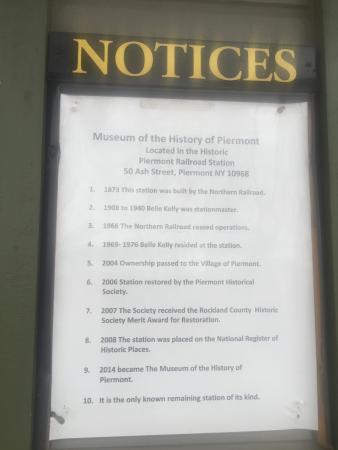 Piermont, estado de Nueva York: The sign says it all