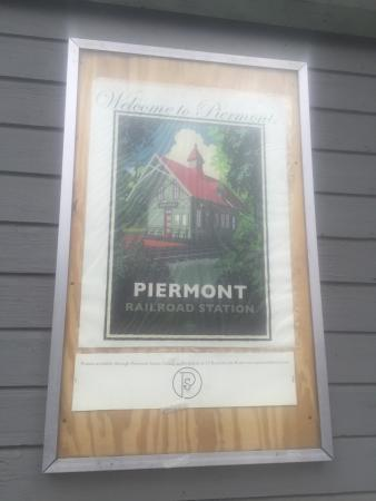 Piermont Train Station and the Erie Path: The sign says it all