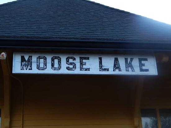 Moose Lake Depot Sign