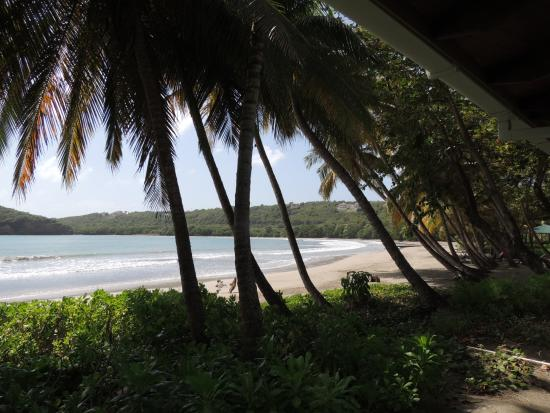 Saint David Parish, Grenada: View from our room ... half a mile of beach with nobody to be seen.