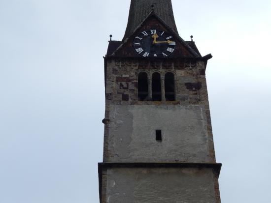 Bischofshofen, Frauenkirche, Tower with clock