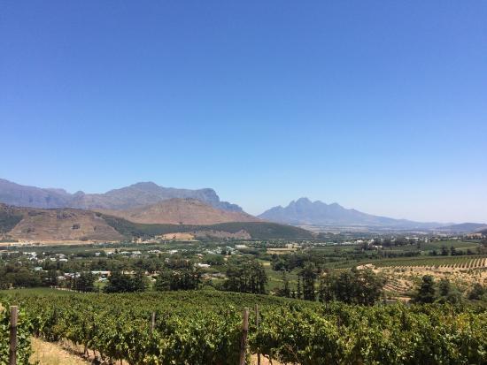 Franschhoek, Sudáfrica: Linda vista da região!