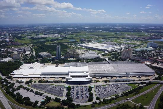Aerial view of the Orange County Convention Center