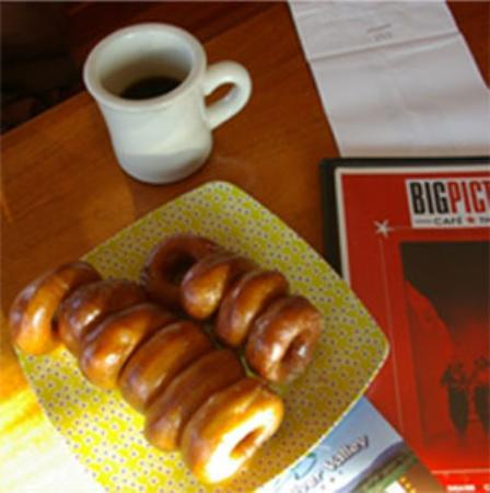 Big Picture Theater and Cafe: donuts