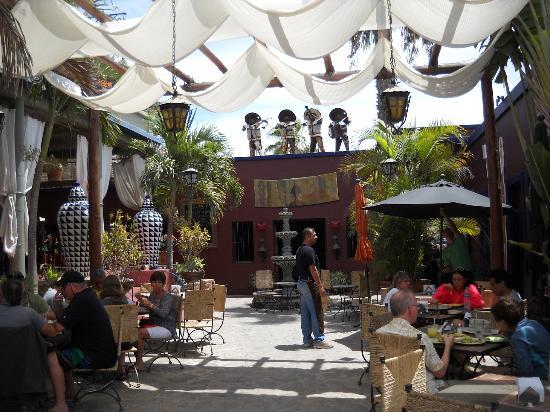 Patio dining at The Hotel California Todos Santos BCS Picture – California Patio